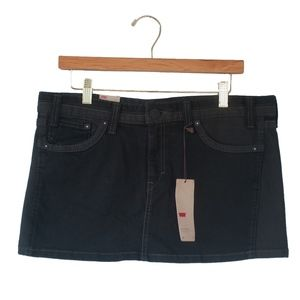 NWT Levi's Ultra Low Rise Black Denim Skirt